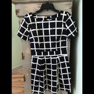 Women's Black Paint Check Ritchie Dress